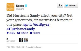 Sears tweet