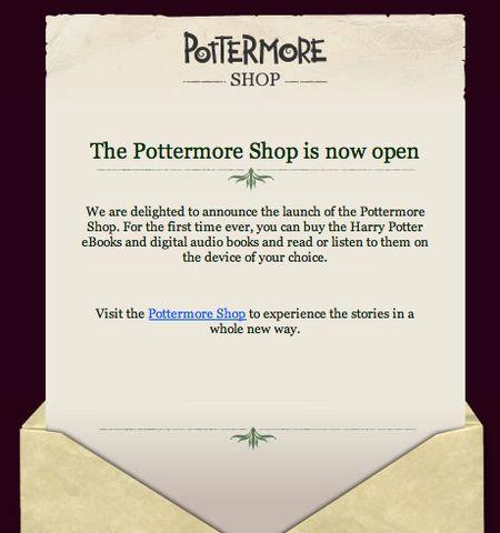 Pottermore invite