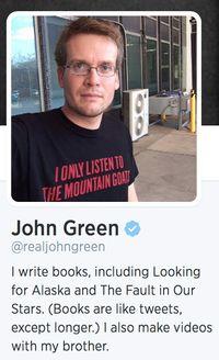 John green twitter