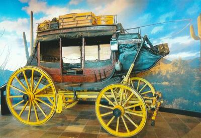 Photo: 1879 Wells Fargo Stagecoach on exhibit in the Wells Fargo Museum in Phoenix.