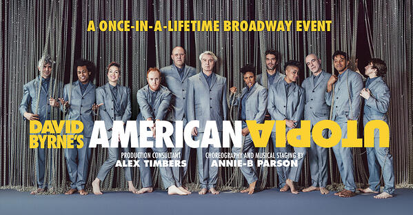 A promotional poster for  David Byrne's American Utopia
