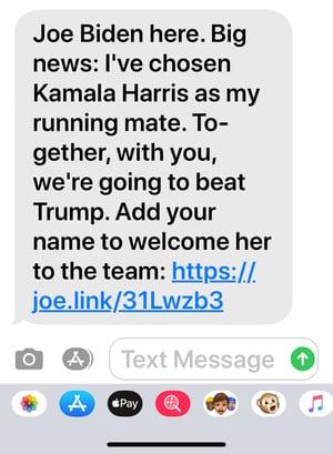 Biden Harris text