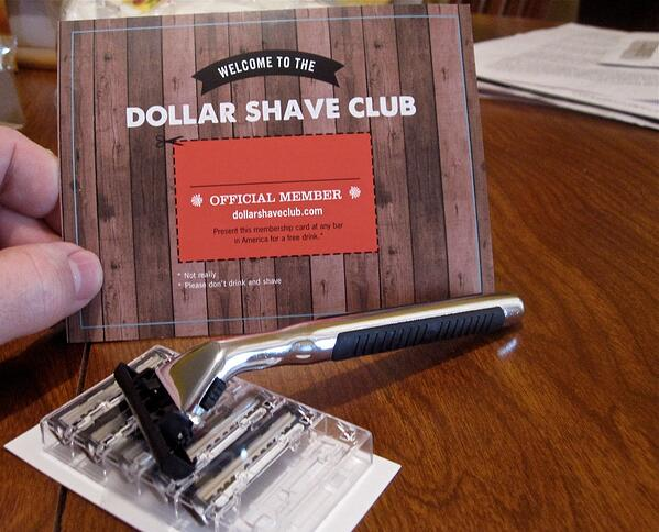Dollar Shave Club products are pictured.
