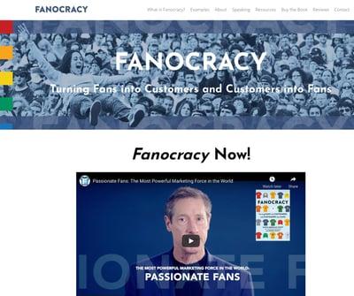 Fanocracy site