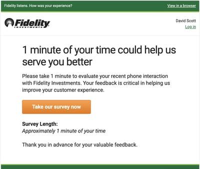 Fidelity survey