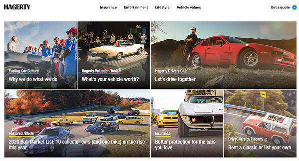 Hagerty homepage