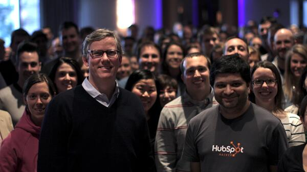 HubSpot Leadership pictured with employees