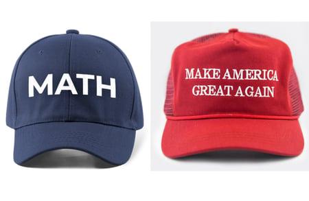 MAGA hat vs MATH hat