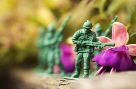 Toy soldier shuttertock