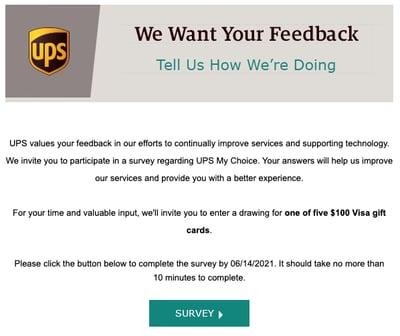 UPS survey