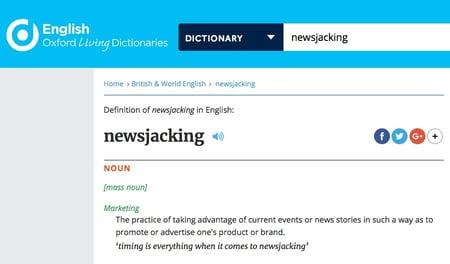 newsjacking Oxford definiation-1
