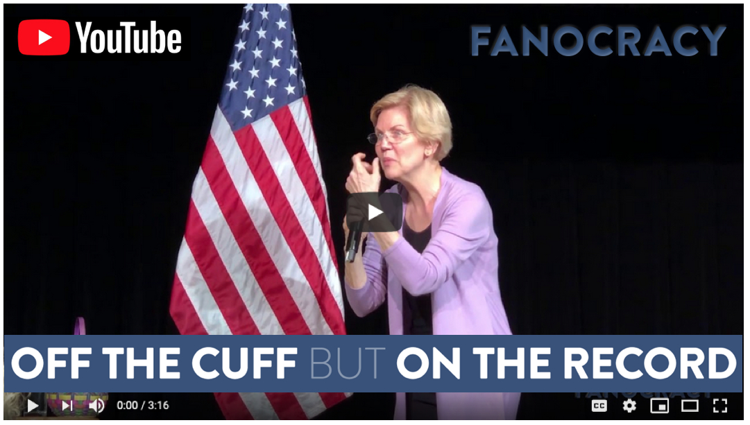 Fanocracy stories Elizabeth Warren