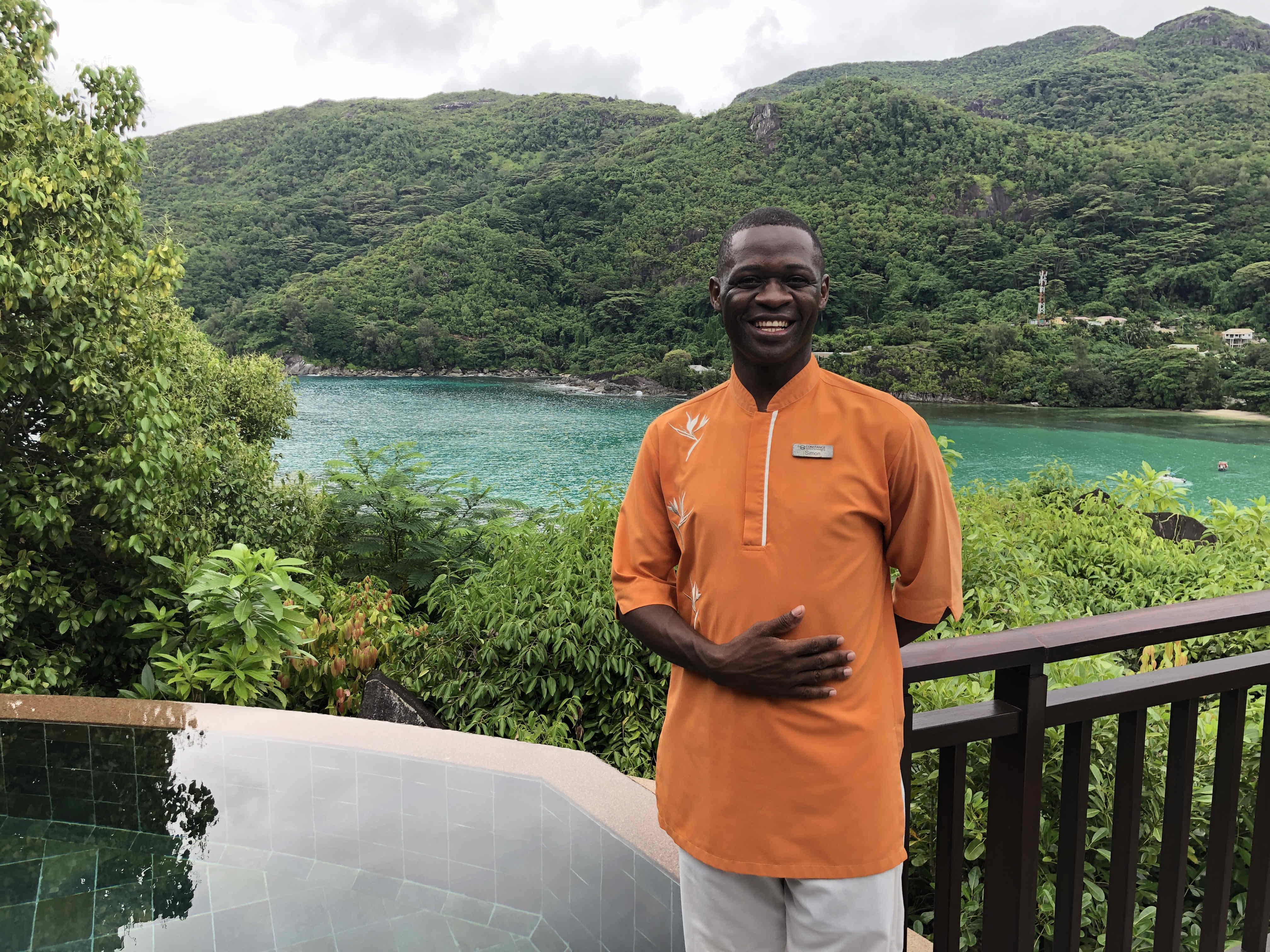 Simon, the amazing staff member at the Constance Ephelia resort.
